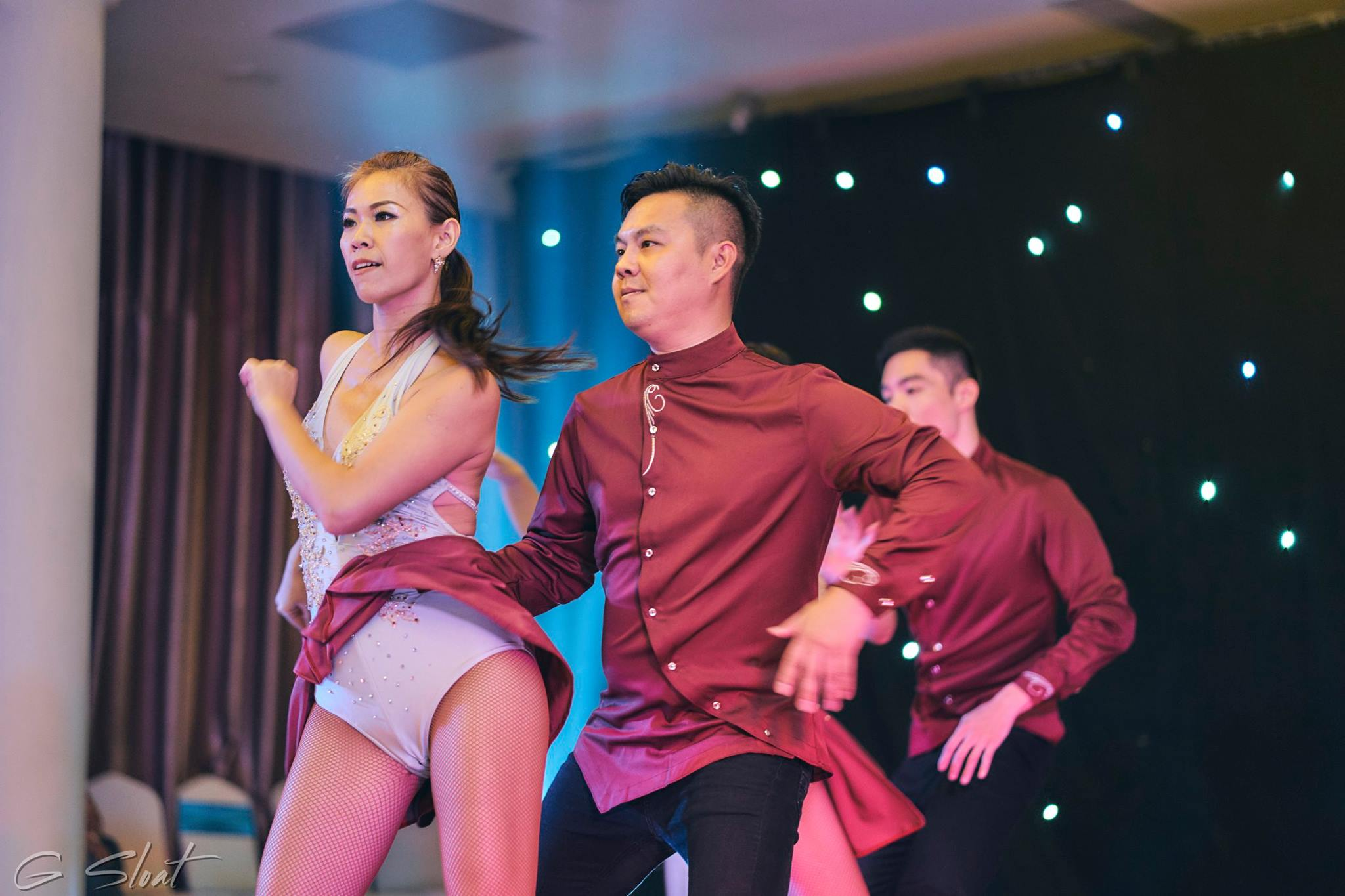 TLDA Taiwan Latin Dance Academy founders Calvin Wang and Mandy Wang performing at Vietnam Latin Experience